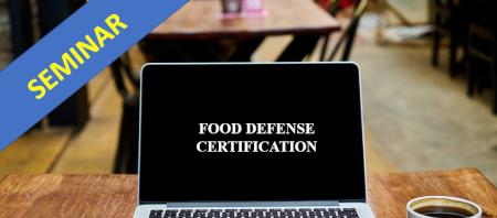 Food Defense Management Certification